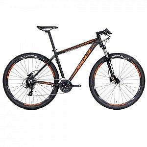 Bicicleta Soul SL70 Aro 29 MTB Preta Laranja 21V