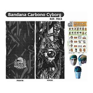 Bandana Tubular Muhu Carbono Cyborg Ciclismo Bike Proteção