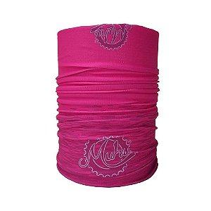 Bandana Tubular Muhu Solid Color Pink Ciclismo Bike Proteção
