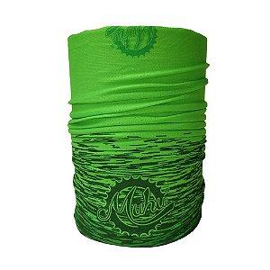 Bandana Tubular Muhu Solid Color Green Ciclismo Bike Proteção