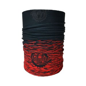 Bandana Tubular Muhu Solid Color Black Red Ciclismo Bike Proteção