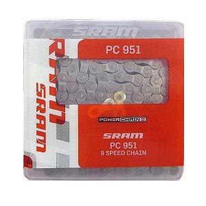 Corrente Sram Pc 951 C/ Powerlink Speed Mtb 9v 27v X3 X4