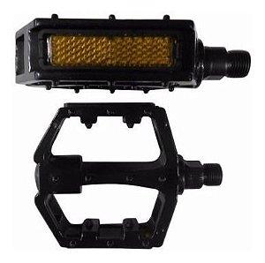 Pedal Plataforma Dh Alumínio C/ Refletor Rosca 9/16 - Par