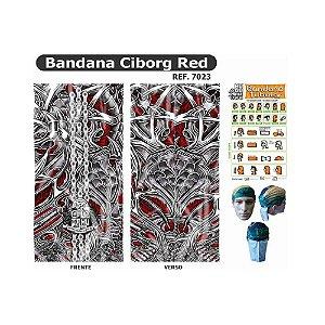 Bandana Tubular Muhu Cyborg Red Ciclismo Bike Mtb Proteção