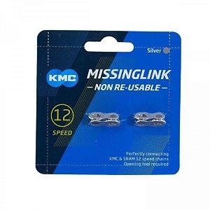 Emenda De Corrente KMC 12v CL552 Compatível Com Sram Prata 2 Unidades