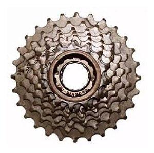 Catraca Roda Livre Index 8v 13-28d Rosca Dourada Bicicleta