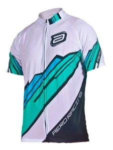Camisa Asw Fun Kom Branco Verde Ciclismo Mtb Speed Tamanho M