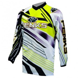 Camisa Penks Start Ml Amarela Ciclismo Mtb Dh Motocross