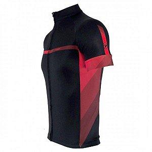 Camisa Ciclismo TSW Pro Line 2 Ciclismo Preta Vermelha