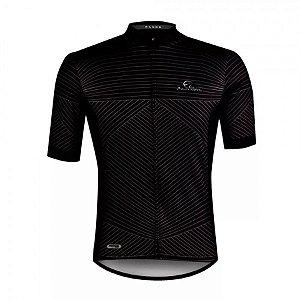 Camisa Ciclismo Mauro Ribeiro Range Masculina Preta Cinza Bike