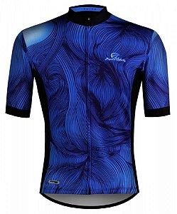 Camisa Ciclismo Mauro Ribeiro Guide Azul Mtb Speed