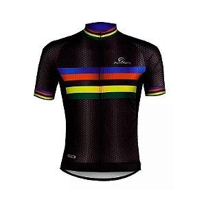 Camisa Ciclismo World Champion Mauro Ribeiro Preta Bike