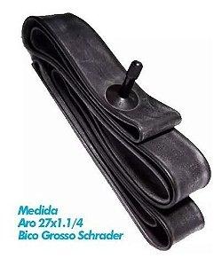 Câmara De Ar Kenda 27x1.1/4 Schrader 35mm Bico Grosso Speed Road