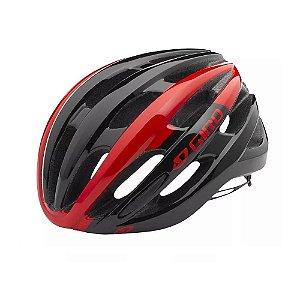 Capacete Giro Foray Preto Vermelho Ciclismo Mtb Bicicleta - Tam M 55-59cm