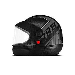 Capacete Pro Tork Super Sport Moto Grafite Cinza