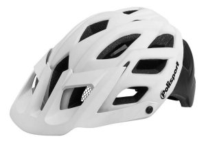 Capacete Ciclismo Polisport Enduro E3 Branco Preto Mtb Bike
