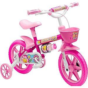 Bicicleta Infantil Bicicletinha Aro 12 Menina Flower Nathor