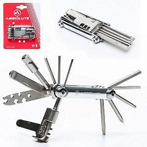 Chave Canivete Ferramenta Absolute YC-287AS 12 Funções - Kit