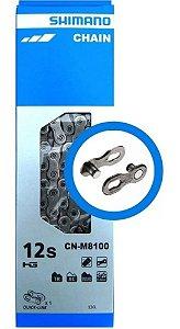 Corrente Shimano Xt 12v Cn-m8100 126l Com Quick Link