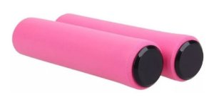 Manopla Punho Silicone High One 135mm Rosa Mtb Bike - Par
