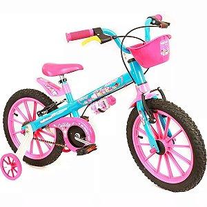 Bicicleta Infantil Feminina Aro 16 Candy Criança Nathor