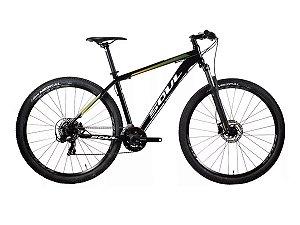 Bicicleta Soul SL129 MTB Aro 29 21v Freio Hidraulico Preta Verde