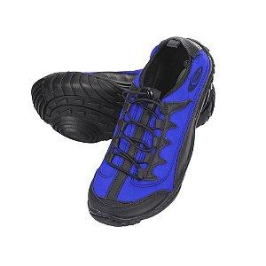 Tenis Sapatilha Anfibius Azul Cardume Prática Esporte Bike Pesca Jet sky Outros