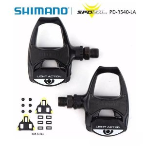 Pedal Shimano Pd-r540-la Light Action Preto Road Bicicleta