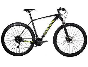 Bicicleta Soul SL229 Aro 29 Shimano Altus 27v Grafite Amarela