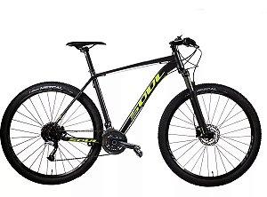 Bicicleta Soul SL229 Aro 29 Shimano Acera 27v Grafite Amarela