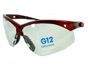 Oculos Nemesis Jackson G12 Flexivel  Vermelho Lente Incolor