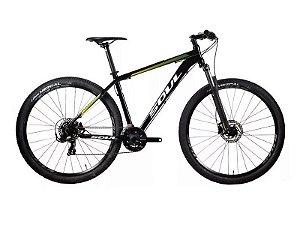 Bicicleta Soul SL129 MTB Aro 29 24v Freio Hidraulico Preta Verde