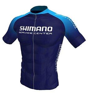 Camisa Ciclismo Shimano Service Center Azul