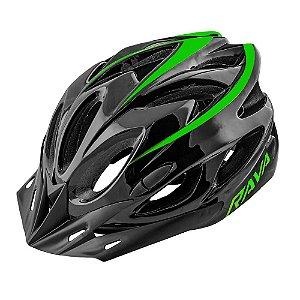 Capacete Ciclismo Tsw Rava Space New Preto Verde
