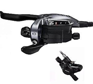 Freio a disco Shimano Alivio ST-M4050/BR-MT400 C/ Passador Dianteiro 3v 1000mm