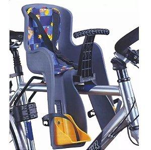 Cadeirinha Infantil Bicicleta Dianteira Engate Rápido Cinza