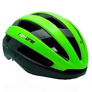 Capacete Ciclismo High One Wind Aero Bicicleta Mtb  PT/Verde
