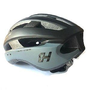 Capacete Ciclismo High One Wind Aero Bicicleta Mtb  PT/Cinza