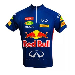 Camisa Masculina Ciclismo Red Bull Infiniti Speed MTB RVB