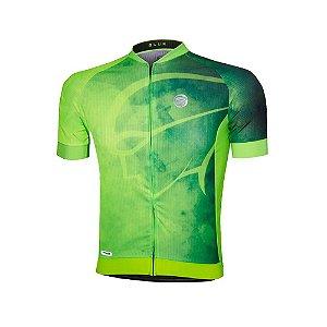 Camisa Ciclismo Mauro Ribeiro BLUR Verde Fluor Mtb Speed