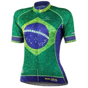 Camisa Ciclismo Brasil Special Mauro Ribeiro Feminina Bike