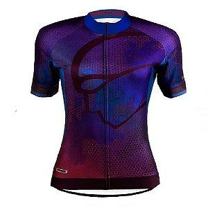 Camisa Mauro Ribeiro Feminina MC Fem Sea VD Ciclismo Roxa
