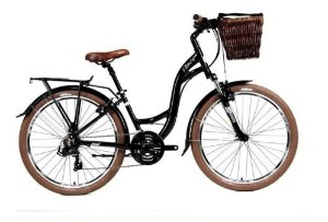 Bicicleta Soul Flow One Retro 26 Preto MarromShimano