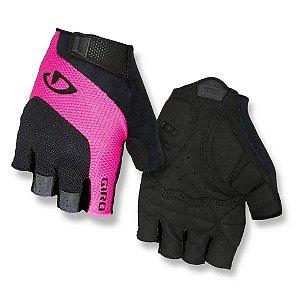 Luva Feminina Giro Tessa Gel Preto Rosa Proteção Bike Tam M