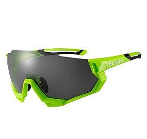 Oculos Ciclismo Rockbros RB-SP176 Troca Lentes C/ Clip Verde