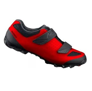 Sapatilha Shimano Sh-me100 Me1 Vermelho 2 Velcros Mtb