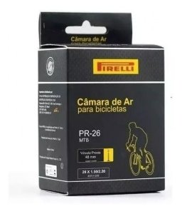 Câmara De Ar Pirelli 26 Válvula Presta 48mm PR-26 Bike Aro 26 Mtb - Un