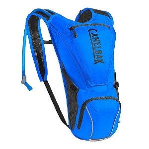 Mochila De Hidratação Camelbak Rogue 2.5l Azul Bolsos Externos