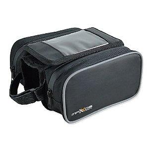 Bolsa Bag Alforge Phone 2x1 Bike Mtb Mattos Racing Preto