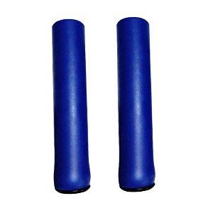 Manopla Absolute NBR1 Azul Esc. Espuma Silicone Bike Mtb Par